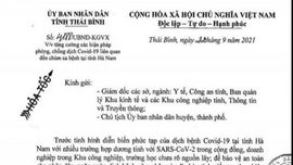 """Thái Bình: Dừng hoạt động trở lại một số dịch vụ sau khi Hà Nam xuất hiện """"ổ dịch"""""""