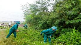 Triệu Sơn (Thanh Hóa): Ra quân dọn vệ sinh môi trường, giải tỏa hành lang ATGT