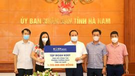 Tập đoàn Kosy trao 1 tỷ 413 triệu đồng ủng hộ công tác phòng chống dịch Covid-19 tỉnh Hà Nam