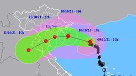 Bão LIONROCK cách Hải Phòng - Nam Định 170-190km; bão KOMPASU sắp đi vào Biển Đông