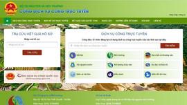 Bộ TN&MT hoàn thành cung cấp 100% thủ tục hành chính trên môi trường trực tuyến