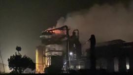 Cháy hệ thống lọc bụi túi vải tại Công ty MDF Hoà Bình