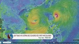 Quỹ đạo và cường độ bão số 5 rất khó dự báo