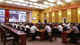 Đảng ủy Bộ TN&MT kết nối với Hội nghị trực tuyến thông báo nhanh kết quả Hội nghị Trung ương 4, khóa XIII