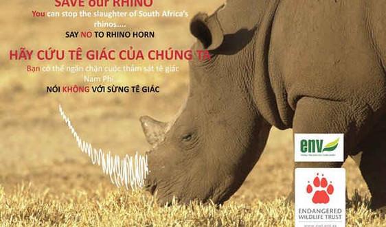 Đạp xe vòng quanh châu Á kêu gọi bảo vệ tê giác