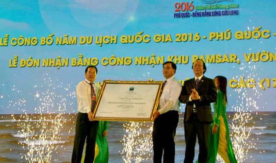 Bộ TN&MT trao chứng nhận khu Ramsar cho VQG U Minh Thượng