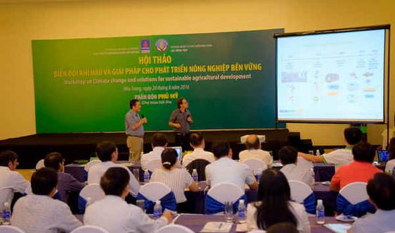 Hội thảo BĐKH và giải pháp cho phát triển nông nghiệp bền vững