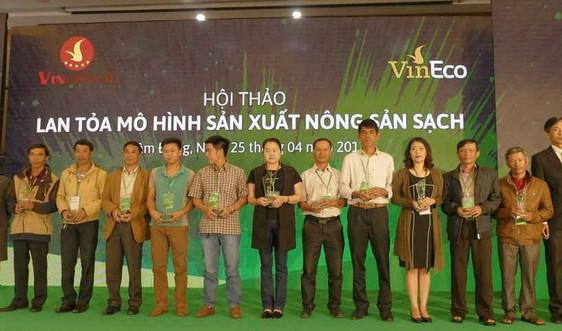 Vingroup kí hợp tác với 500 hộ sản xuất nông sản sạch