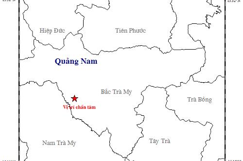 Quảng Nam: Động đất mạnh 2.8 độ richter ở huyện Bắc Trà My