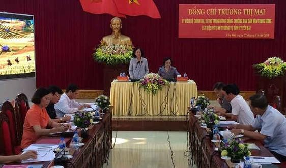 Trưởng Ban Dân vận Trung ương Trương Thị Mai làm việc tại Yên Bái