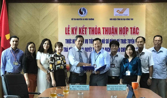 Sở TN&MT tỉnh Bà Rịa - Vũng Tàu: Ký kết đẩy mạnh giải quyết thủ tục hành chính
