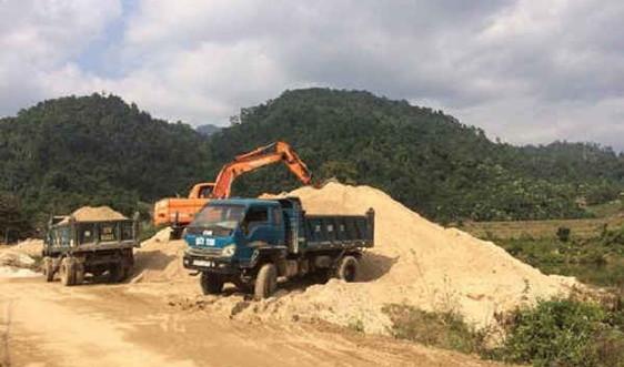 Nghệ An: Khó khăn trong quản lý khai thác cát trái phép ở miền núi