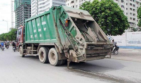Hà Nội: Xử lý nghiêm các xe vận chuyển rác thải gây rơi vãi, rò rỉ nước rác khi vận chuyển