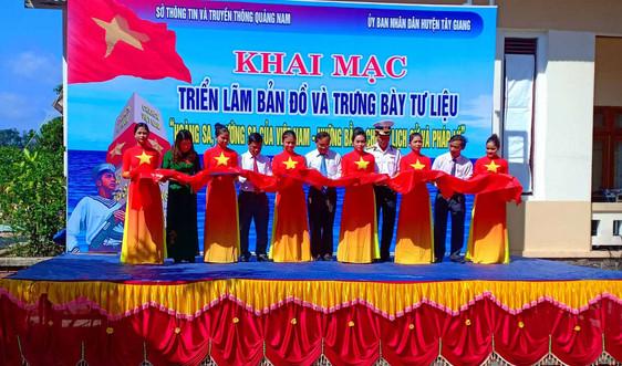 """Quảng Nam: Triển lãm trưng bày tư liệu """"Hoàng Sa, Trường Sa của Việt Nam"""" tại Tây Giang"""