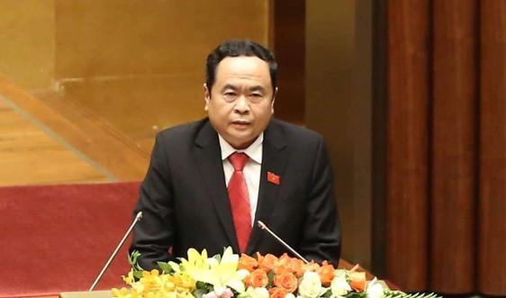 Chủ tịch Uỷ ban Trung ương MTTQ Việt Nam Trần Thanh Mẫn:Quan tâm đầu tư cho ứng phó với thiên tai và biến đổi khí hậu