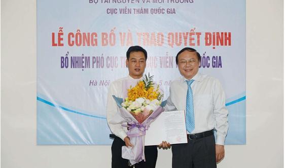 Công bố quyết định bổ nhiệm ông Lê Quốc Hưng giữ chức Phó Cục trưởng Cục Viễn thám quốc gia