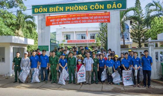 Đồn Biên phòng Côn Đảo ra quân hưởng ứng Ngày Môi trường thế giới