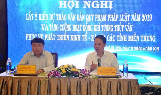 Tăng cường hoạt động KTTV phục vụ phát triển kinh tế - xã hội khu vực miền Trung