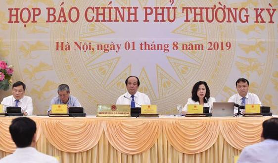 Văn phòng Chính phủ tổ chức họp báo thường kỳ tháng 7/2019