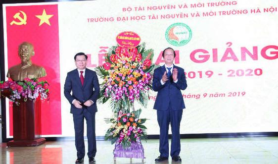 Đại học TN&MT Hà Nội khai giảng năm học 2019-2020