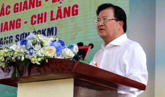 Phó Thủ tướng Trịnh Đình Dũng phát lệnh thông xe cao tốc Bắc Giang - Lạng Sơn
