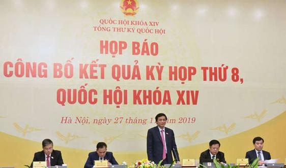 Họp báo công bố kết quả Kỳ họp thứ Tám, Quốc hội Khóa XIV