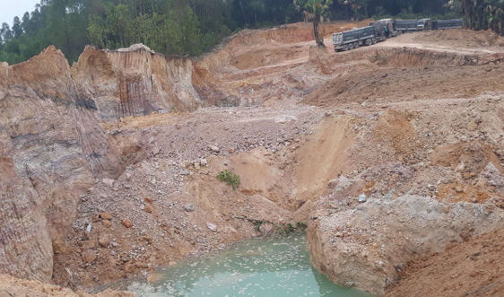Lập Thạch – Vĩnh Phúc: Ngang nhiên khai thác khoáng sản trái phép