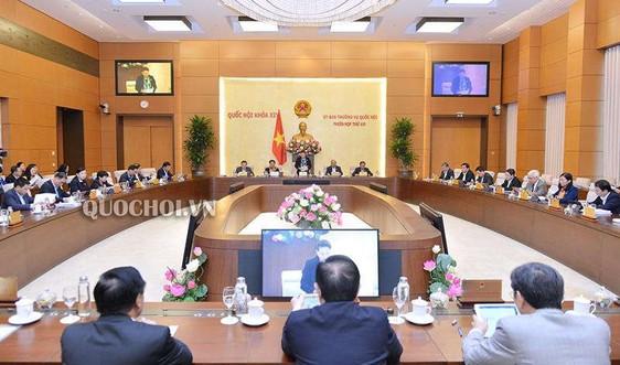 Thường vụ Quốc hội cho ý kiến điều chỉnh kế hoạch đầu tư vốn nước ngoài năm 2019