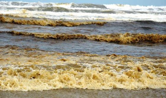 """Đã tìm ra """"thủ phạm"""" khiến nước biển đổi màu đen ở Quảng Ngãi"""