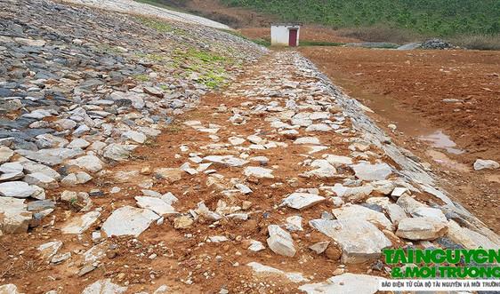 Thạch Thành (Thanh Hóa): Thi công ẩu tại công trình gia cố hồ Quèn Kìm