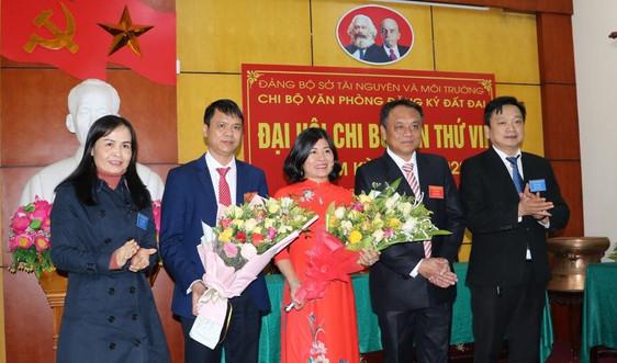 Đảng bộ Sở TN&MT Hà Tĩnh tổ chức Đại hội điểm cấp cơ sở