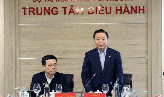 Bộ trưởng Trần Hồng Hà làm việc với các bộ, ngành về hệ thống thông tin đất đai và cơ sở dữ liệu đất đai