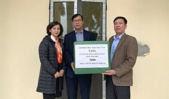 Vinatex tặng 5.000 khẩu trang kháng khuẩn cho tỉnh Vĩnh Phúc