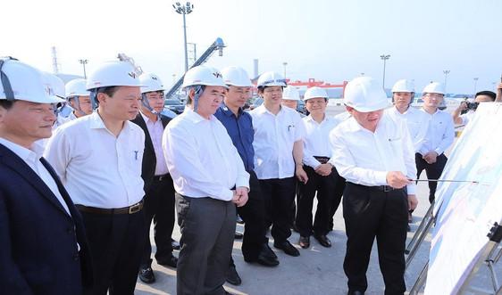 Trưởng Ban Kinh tế Trung ương Nguyễn Văn Bình làm việc tại Khu kinh tế Nghi Sơn