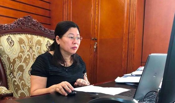 Thứ trưởng Nguyễn Thị Phương Hoa họp trực tuyến về các Thông tư lĩnh vực đo đạc và bản đồ trình ban hành trong tháng 4, 5/2020