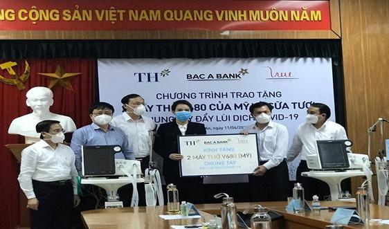 Doanh nghiệp tặng máy thở cho bệnh viện tại Nghệ An, chung tay đẩy lùi Covid-19