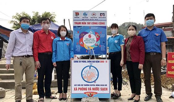 Lào Cai: Lắp đặt trạm rửa tay giúp người dân phòng chống covid-19