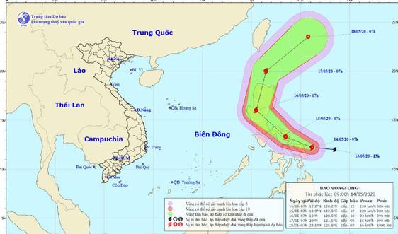 Bão VONGFONG giật cấp 14 đang áp sát bờ biển Philippines