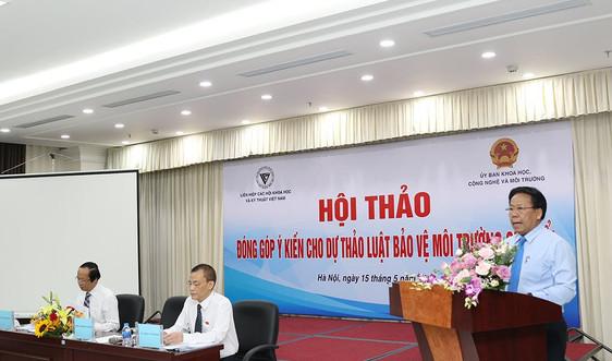 Liên hiệp các Hội Khoa học và Kỹ thuật Việt Nam đóng góp ý kiến cho Dự thảo Luật bảo vệ môi trường (sửa đổi)