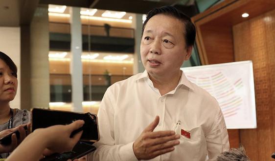 Bộ trưởng Trần Hồng Hà trả lời báo chí về dự thảo Luật Bảo vệ môi trường (sửa đổi)