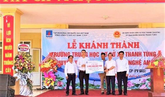PV GAS tài trợ 5 tỷ đồng xây dựng Trường THCS xã Thanh Tùng, Thanh Chương, Nghệ An