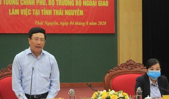 Phó Thủ tướng Phạm Bình Minh chỉ đạo tìm giải pháp thúc đẩy giải ngân vốn đầu tư công cho Thái Nguyên