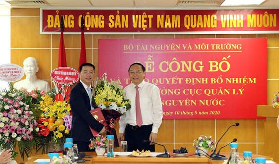 Bộ TN&MT: Bổ nhiệm ông Châu Trần Vĩnh giữ chức Cục trưởng Cục Quản lý tài nguyên nước
