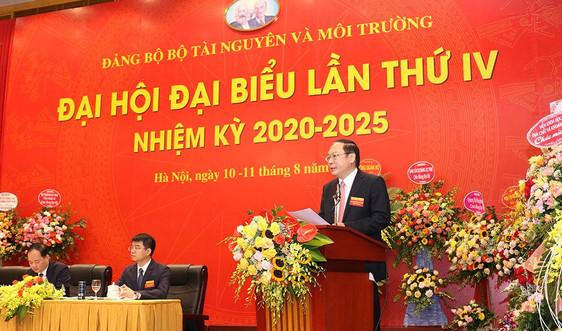 Đại hội Đại biểu Đảng bộ Bộ TN&MT lần thứ IV, nhiệm kỳ 2020-2025 thành công tốt đẹp