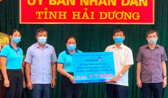 Vietinbank chung sức cùng Hải Dương chống dịch