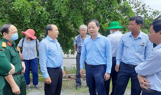 Đoàn công tác BCĐ Trung ương  về phòng, chống thiên tai làm việc tại Long An