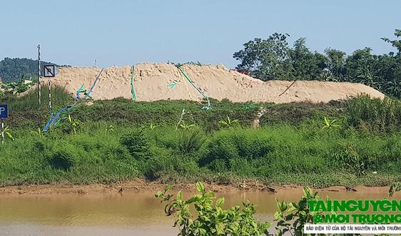 Hậu Lộc (Thanh Hóa): Công ty Mai Hương D-L tập kết cát vi phạm Luật Đê điều