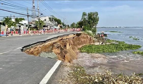 Cảnh báo sạt lở đặc biệt nguy hiểm 6 đoạn bờ sông Hậu, sông Tiền