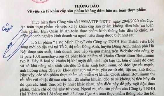 Đà Nẵng: Khẩn cấp kiểm tra lưu hành 13 sản phẩm liên quan đến công ty sản xuất Pate Minh Chay