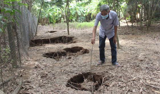 Quảng Trị: UBND tỉnh chỉ đạo kiểm tra, khắc phục tình trạng sụt lún đất trong vườn nhà dân